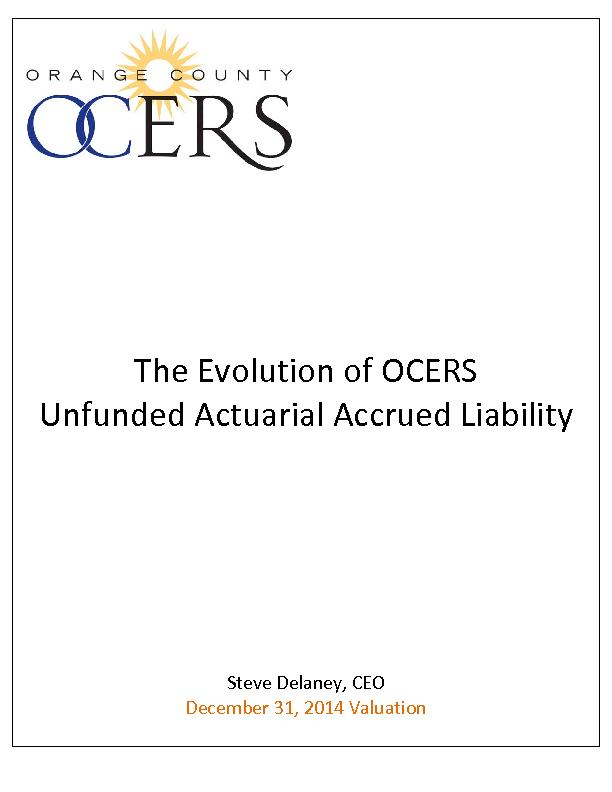 The Evolution of OCERSUnfunded Actuarial Accrued LiabilitySteve Delane