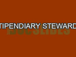STIPENDIARY STEWARDS' REPORT