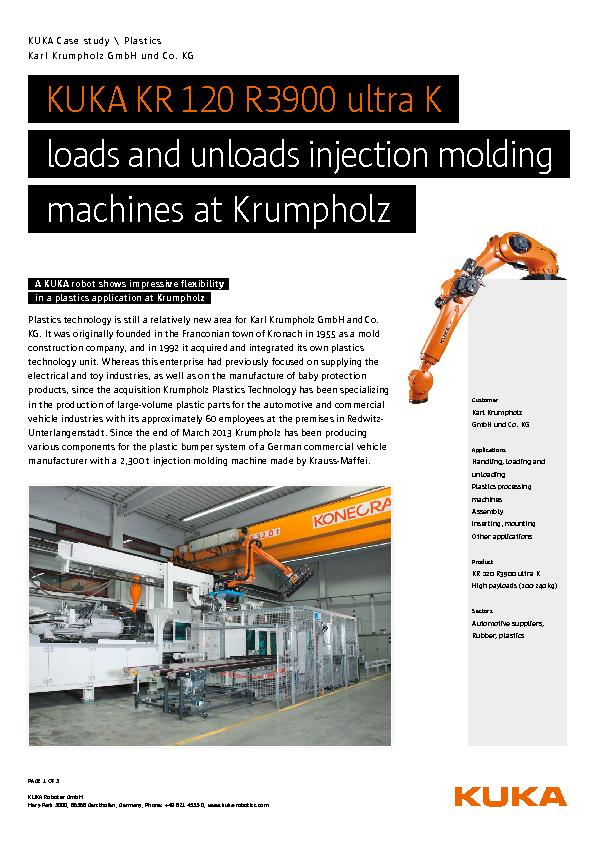 loads and unloads injection molding