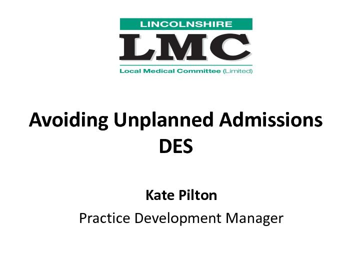 Avoiding Unplanned Admissions