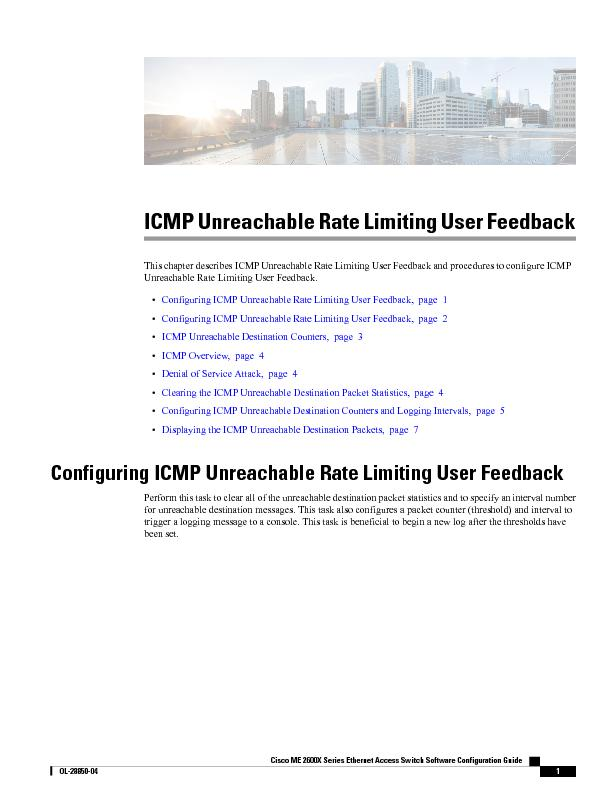 ICMP Unreachable Rate Limiting User Feedback7KLVFKDSWHUGH