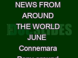 Amused By The World By Richard Smith NEWS FROM AROUND THE WORLD JUNE  Connemara Pony around the world I was not amused
