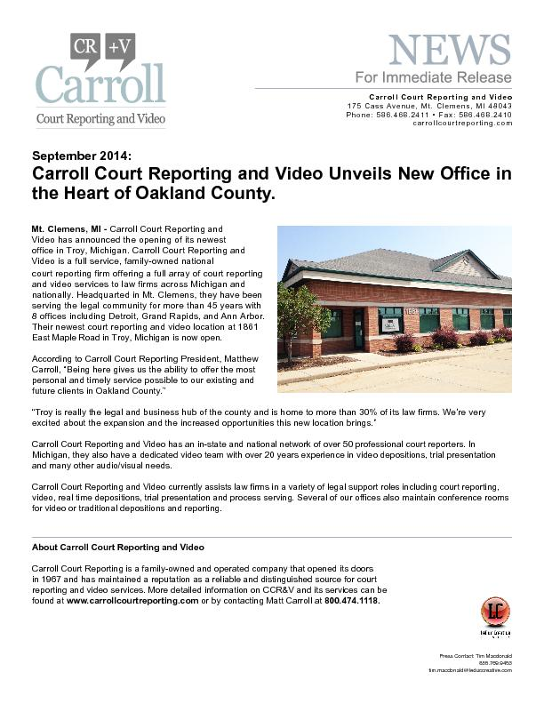 Court Reporting and Video