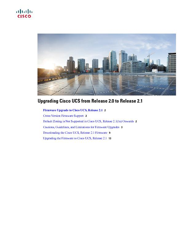 Upgrading Cisco UCS from Release 2.0 to Release 2.1)LUPZDUH8