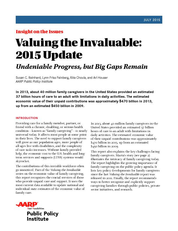 Insight on the IssuesValuing the Invaluable: 2015 UpdateUndeniable Pro