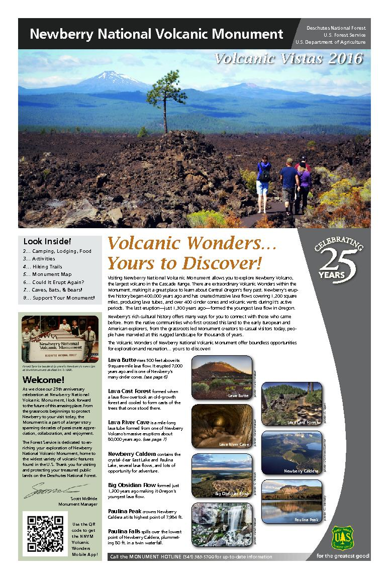 Newberry National Volcanic MonumentLava Butte rises 500 feet above its