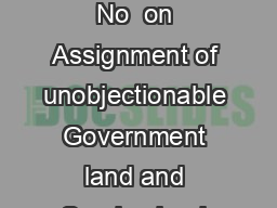 GOMs No  Operational Guidelines for receipt of applications under GOMs No  on Assignment of unobjectionable Government land and Surplus land under Urban Land Ceiling to an extent up to  square yards PowerPoint PPT Presentation