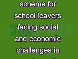 An admissions scheme for school leavers facing social and economic challenges in accessing college