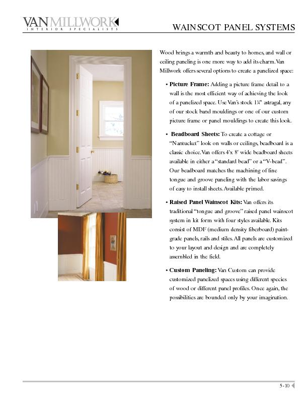 Custom Picture Frame Options can be found on page 2-40.