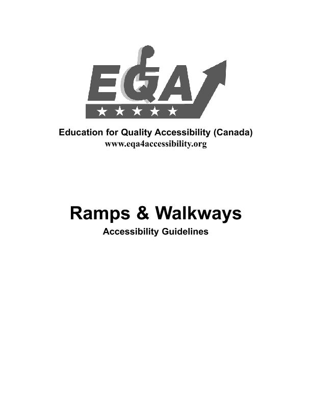 E.Q.A. Guidlines - Ramps and Walkways  PowerPoint PPT Presentation