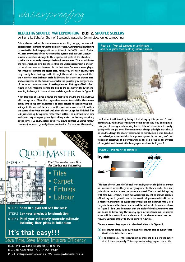 This is the second article on shower waterproong design, this one wil