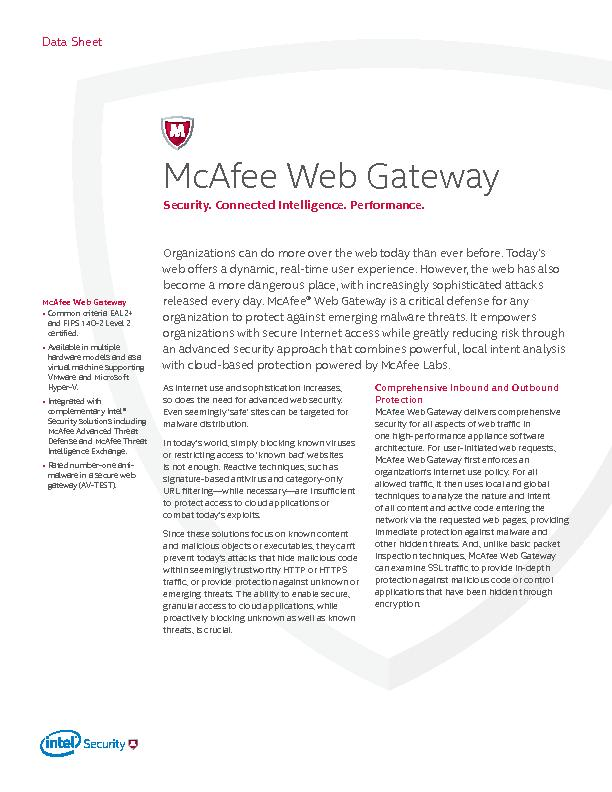 McAfee Web Gateway Common criteria EAL2+ and FIPS 140-2