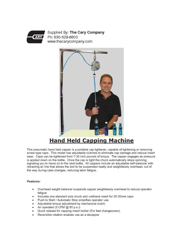 Hand Held Capping Machine PowerPoint PPT Presentation