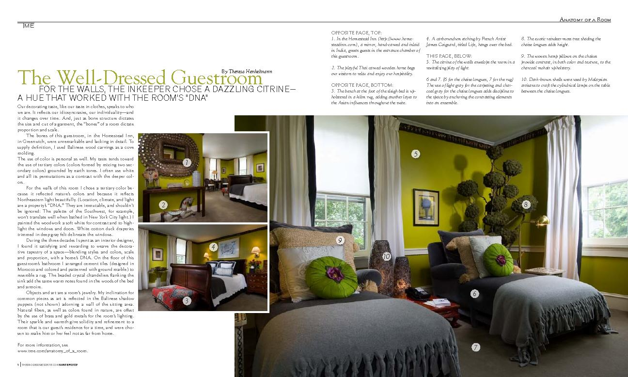 THEMODERNESTATE.COMWINTER 2007Our decorating taste, like our taste in