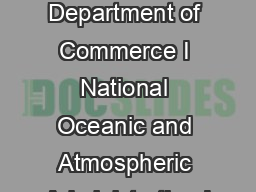 US Department of Commerce I National Oceanic and Atmospheric Administration I