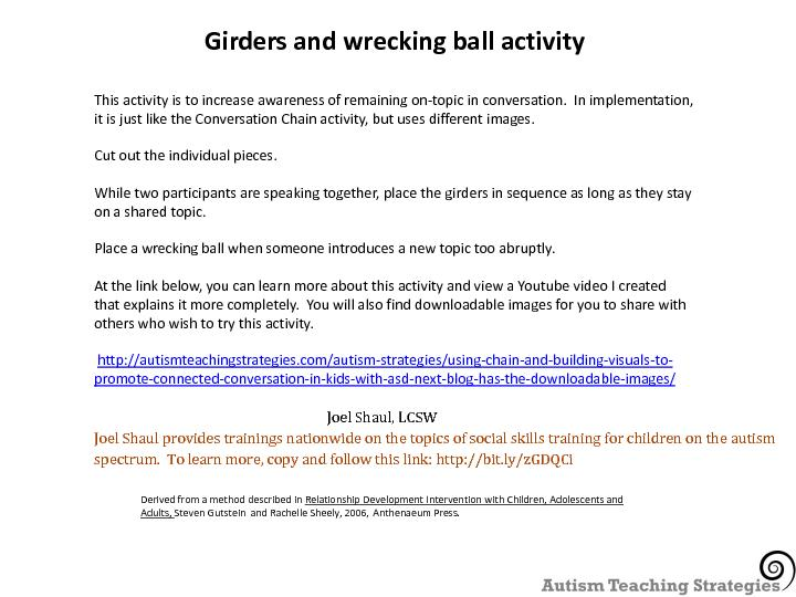 Girders and wrecking ball activity