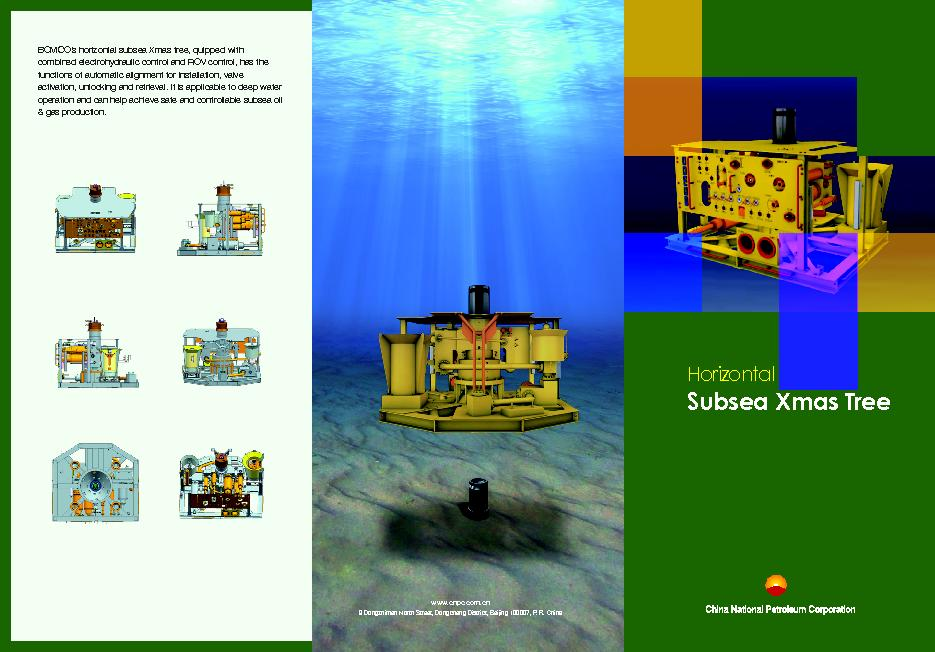 BOMCO's horizontal subsea Xmas tree, quipped with combined electr