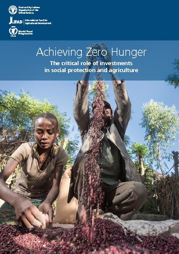 Introduction  Achieving zero hunger by investing in social  protec