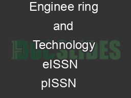 IJRET International Journal of Research in Enginee ring and Technology eISSN   pISSN    Volume  Issue   Sep Available  http www