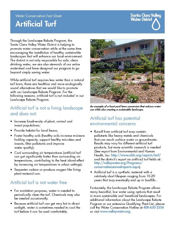 Santa Clara Valley Water District is helping to promote water conserva