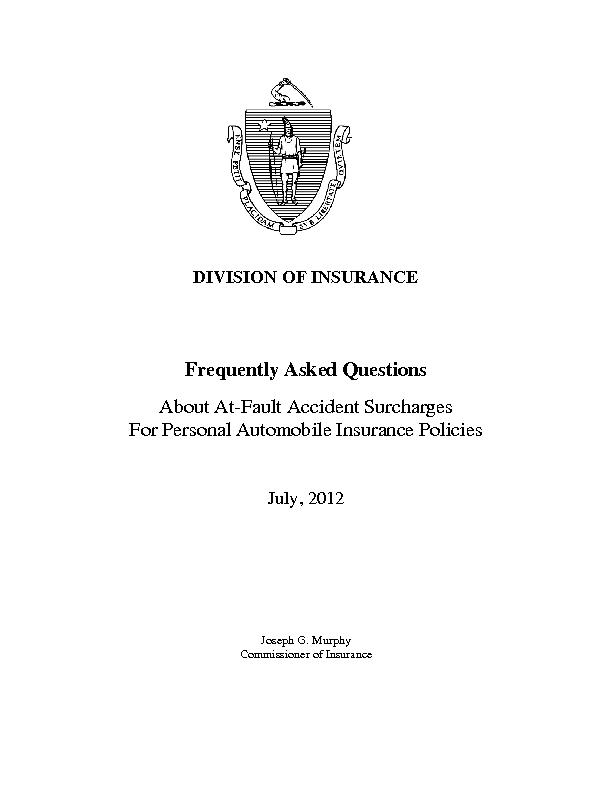 DIVISION OF INSURANCEFrequently Asked QuestionsAbout AtFault Accident