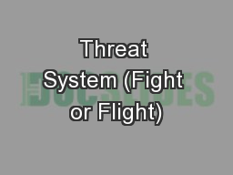 Threat System (Fight or Flight) PowerPoint PPT Presentation