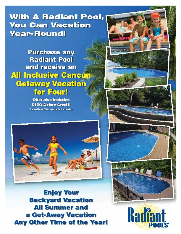With A Radiant Pool, You Can Vacation Year-Round!