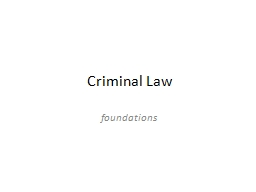 Criminal Law PowerPoint PPT Presentation