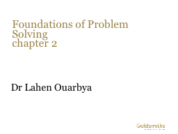 Foundations of Problem