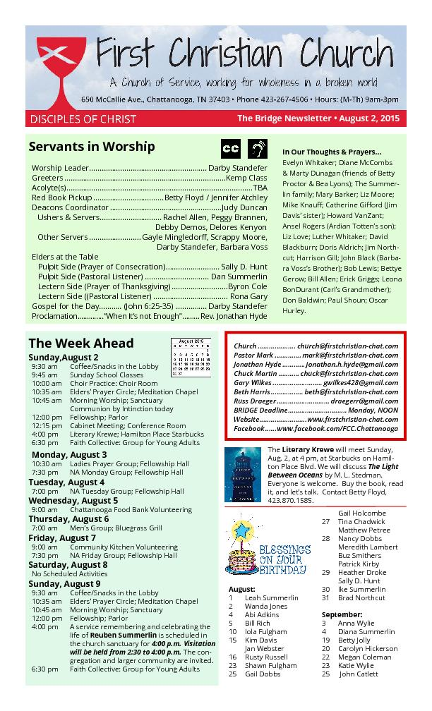 Servants in Worship
