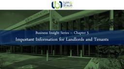Business Insight Series – Chapter 6