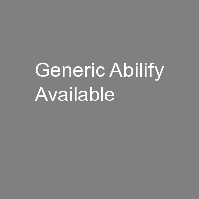Generic Abilify Available