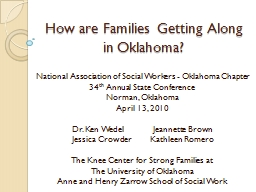 How are Families Getting Along in Oklahoma? PowerPoint PPT Presentation