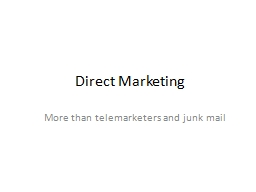 Direct Marketing