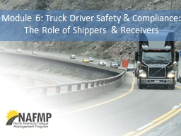Module 6: Truck Driver Safety & Compliance