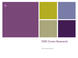 DVD Cover Research PowerPoint PPT Presentation