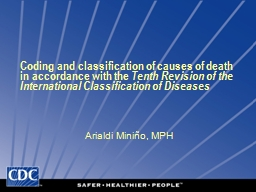 Coding and classification of causes of death