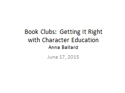 Book Clubs: Getting It Right