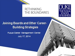 Fuqua Career Management Center