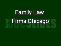 Family Law Firms Chicago
