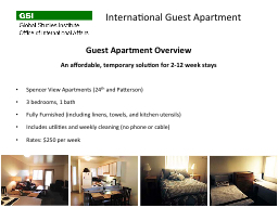 Guest Apartment Overview