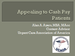 Appealing to Cash Pay Patients PowerPoint Presentation, PPT - DocSlides