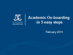 Academic On-boarding