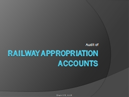 Railway appropriation accounts