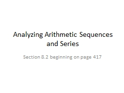 Analyzing Arithmetic Sequences and Series