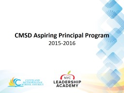 CMSD Aspiring Principal Program PowerPoint PPT Presentation