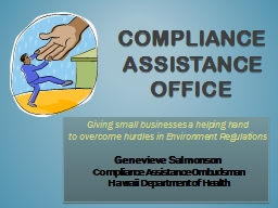 Compliance Assistance Office PowerPoint PPT Presentation