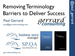 Removing Terminology Barriers