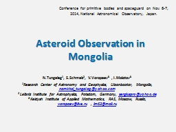 Asteroid Observation in Mongolia