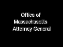 Office of Massachusetts Attorney General